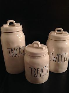 Details About Rae Dunn Kisses Hugs Canister Set By
