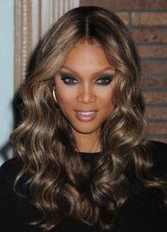 Tyra Banks<3 I want this hair so badly.
