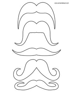 mustache coloring pages 01 | Baby shower | Pinterest