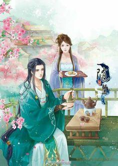 Thanh sơn cổ đạo,bình một chén thiện ý thanh trà Đợi chờ,mắt như ánh sao,tựa như bức họa