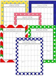 18 Month Calendar / Family Planner Forms and More!  http://www.christianhomeschoolhub.spruz.com/organization.htm#