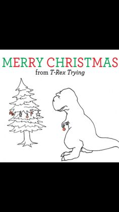 T Rex hates decorating the Christmas tree