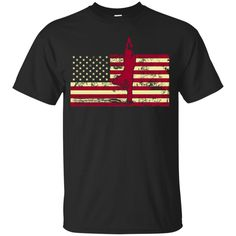 Male Yoga Pose On The American Flag Youth Custom Ultra Cotton Tee