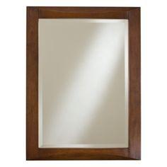 Minka Ambience Rectangle Wall Mirror in Walnut - 54513-0