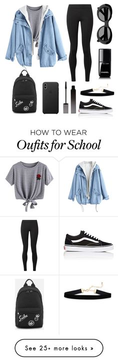 """indie school"" by arantza-obregon on Polyvore featuring The Row, Serge Lutens, Vans, WithChic, Chanel and Acne Studios"