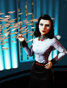 Bioshock Burial at Sea... Elizabeth! Why are you being so evil looking? What is this madness?!? -Will--- I like it. Kinda tired of that pretty Disney Princess shit tbh.