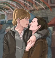 Cute Lesbian Couples, Lesbian Art, Lesbian Love, Supergirl 2, Lena Luthor, Katie Mcgrath, Sagittarius Facts, Kara, Cartoon Characters