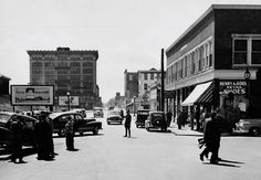 Brockton Massachusetts -- Montello Street, looking south from Court Street -- approx. late 1940s