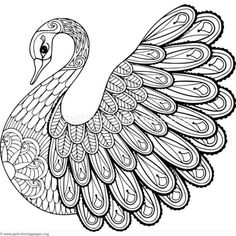 Adult Bird Coloring Pages Best Of Hand Drawing Artistic Swan for Adult Coloring Pages In Bird Coloring Pages, Printable Coloring Pages, Coloring Pages For Kids, Coloring Books, Tier Doodles, Art Quilling, Animal Doodles, Zentangle Drawings, Online Coloring