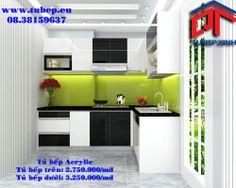 Tủ bếp được thiết kế độc đáo tạo điểm nhấn cho nội thất nhà bếp.