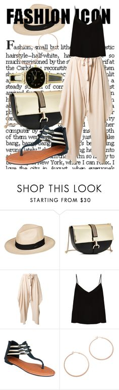 """Sandals"" by elen25 ❤ liked on Polyvore featuring Roxy, Lanvin, STELLA McCARTNEY, Raey, GCGme and Jennifer Zeuner"