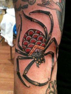 Resultado de imagem para old school spider tattoo