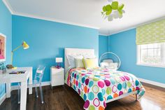 Find decorating ideas that are cool enough even for the snarkiest young adult, yet are still fun and playful, because they're still a kid.