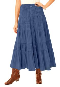 Plus Size Skirt in soft-as-suede moleskin | Plus Size skirts | Woman Within