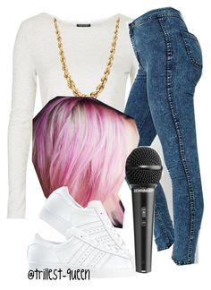 Performance (Cecelia's outfit) by trillest-queen on Polyvore featuring polyvore, fashion, style, Topshop, adidas and Free People