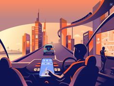 Smart city designed by ranganath krishnamani. Connect with them on Dribbble; the global community for designers and creative professionals. City Illustration, Simple Illustration, Design Graphique, Art Graphique, Tableaux D'inspiration, Global Mobile, Smart City, Saint Charles, Imagines