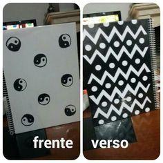 DIY: caderno preto e branco