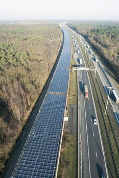 2.1 miles of solar panels on the Belgium Infrabel rail tunnel are expected to decrease CO2 emissions by 2,400 tons per year.