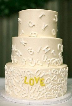 Heart Wedding Cake Idea: Alphabet Cake