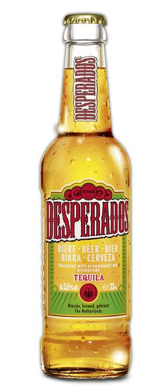 Desperados Beer. Drinking it always reminds me of the first time I met my BF <3