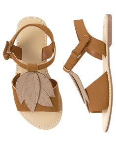 Gymboree Girls Brown Leaf Sandals NWT fall autumn shoes Never Released Size 11 Baby Girl Shoes, Girls Shoes, Huarache, Find 5, 11 Clothing, Melissa Shoes, Fall Shoes, Fashion Flats, Gymboree