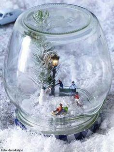 Neu gestaltete Schneekugel ♡
