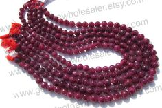 Ruby Color Enhanced Smooth Round Quality A / by GemstoneWholesaler, $73.08