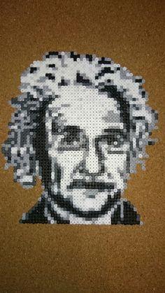 Albert Einstein hama mini beads by Alejandro Bonilla Guervos