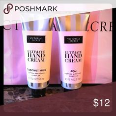 Victoria's Secret hand creams New Victoria's Secret hand creams! Comes in Acai and coconut milk! Smells fantastic and perfect for the winter! Price is firm! Not taking  offers✨ Victoria's Secret Other