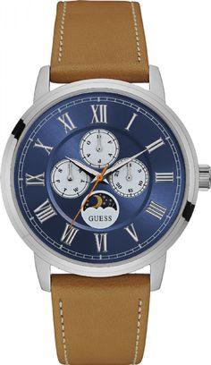 92617G0GDNC5 Relógio Masculino Guess Multifunção com Pulseira de Couro e Calendário Lunar | Guest Club