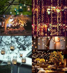 Cheap Wedding Ideas Pinterest   Ruche: Wedding Wednesday: Creative Lighting Ideas