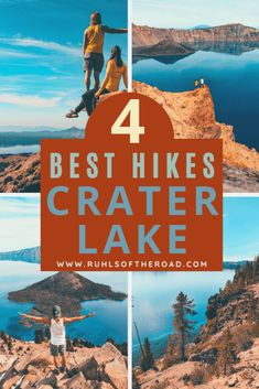 Official Crater Lake Hiking Guide - 2 Day Itinerary - Ruhls of the Road - - Crater Lake is one of the most unique and incredible sites in the world. We wrote a 2 day Crater Lake hiking guide for you to see everything in the park! Crater Lake Hikes, Crater Lake Camping, Crater Lake Oregon, Crater Lake National Park, Oregon Vacation, Oregon Road Trip, Oregon Travel, Travel Usa, Oregon Hiking