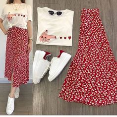 Ideas For Fashion Outfits Hijab Rok Modest Dresses, Modest Outfits, Skirt Outfits, Modest Fashion, Skirt Fashion, Hijab Fashion, Korean Fashion, Summer Outfits, Casual Outfits