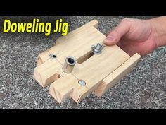 How To Make Doweling Jig for Joinery Wood Projects, Projects To Try, Dowel Jig, Wood Lathe, Joinery, Woodworking Projects, Triangle, Make It Yourself, How To Make