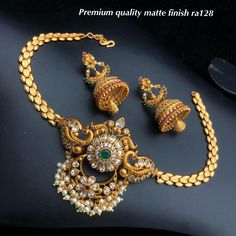 Temple jewellery available at AnkhJewels for booking WhatsApp on Bridal Jewelry, Gold Jewelry, Fine Jewelry, Jewelry Necklaces, India Jewelry, Temple Jewellery, Gold Ornaments, Bar Necklace, Natural Gemstones
