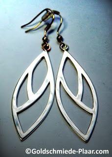 Goldschmiede Plaar in Osnabrück: Ohrhänger aus altem Silber - ear pendants made of old silver
