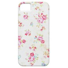 White Floral Shabby Chic iPhone 5c iPhone 5 Cover