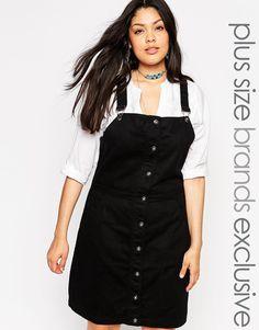 Image 1 ofAlice & You Denim Pinafore Dress