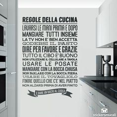 Adesivi Murali: Regole de la Cucina