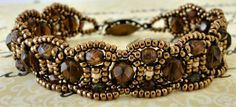 Linda's Crafty Inspirations: Bracelet of the Day: Canterbury - Brown