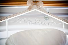 Distressed #ShabbyChic #WeddingHangar with #VeraWang #Wedding Dress from #Etsy shop: Get Hung Up