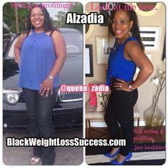 Alzadia lost 60 pounds | Black Weight Loss Success