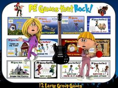 """PE Games that Rock! - """"12 Large Group Games"""""""