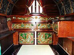 English Gypsy caravan, Gypsy wagon, Gypsy waggon and vardo Gypsy Trailer, Gypsy Caravan, Gypsy Wagon, Cargo Trailer Conversion, Gypsy Living, Home Design Decor, Interior Design, Retro Campers, Small Space Storage