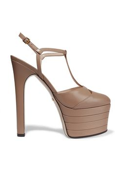 Gucci | Leather platform pumps | NET-A-PORTER.COM