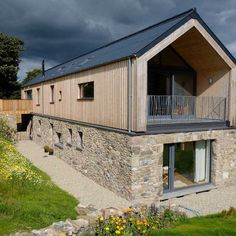 We catch up with architect Micah Jones, whose home was recently featured on Grand Designs, to talk about what makes his vernacular and low cost home a cut above the rest Micah's self-build journey … Grand Designs Houses, Modern Barn House, Contemporary Barn, Casas Containers, A Frame House, Shed Homes, Stone Houses, Shed Plans, House Plans