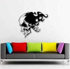 Wall Stickers Vinyl Decal Death Skull Tattoo Dead Coolest Room Decor (ig684)