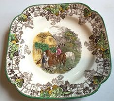 Copeland Spode England Byron square bread and butter serving plate