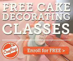 Try a FREE online craft class!  Choose from cake decorating, sewing, knitting, quilting, and more!