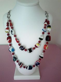Candy - Jewelry creation by jj jewelry Candy Jewelry, Glass Jewelry, Beaded Necklaces, Dyi, Jewelry Making, Jewels, Beads, How To Make, Crafts